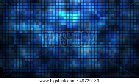 Abstract illuminated wall mosaic horizontal vector background.