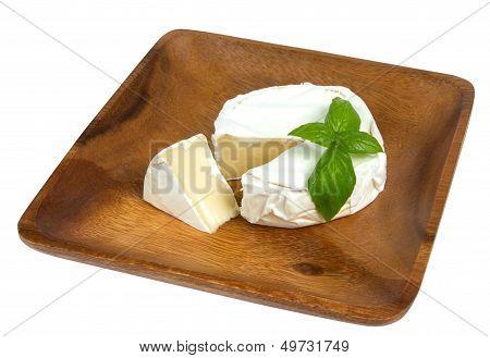 Camembert Cheese And Fresh Basilic
