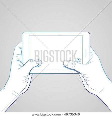 Hand Hold Tablet Game