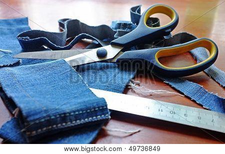 Jeans & scissors