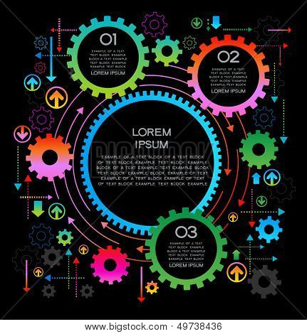 abstract background gears with text