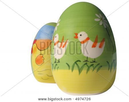 Two Decorated Easter Eggs
