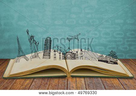 Book of travel (Japan,France,I taly,New York,India,egypt)