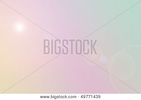 Pastel colored abstract background with sun rays poster