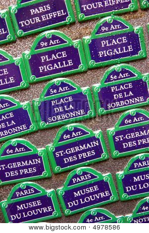 Magnets Of Paris Streets