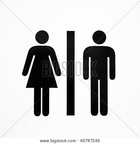 Symbol of a public toilet