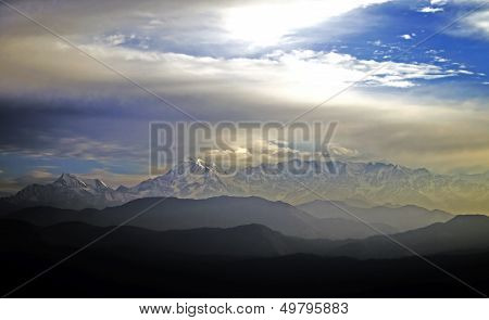 The trishul range of himalayas