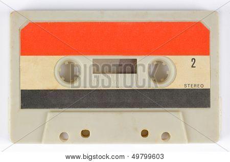 an old audio cassette