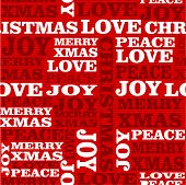Merry Christmas text seamless pattern background. Vector layered for easy editing. poster