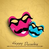 Indian festival Happy Dussehra Background.  poster