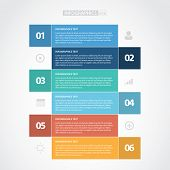 Colorful Flat Step by Step / EPS10 Vector Illustration / poster