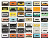 a vintage retro old audio cassette tape poster