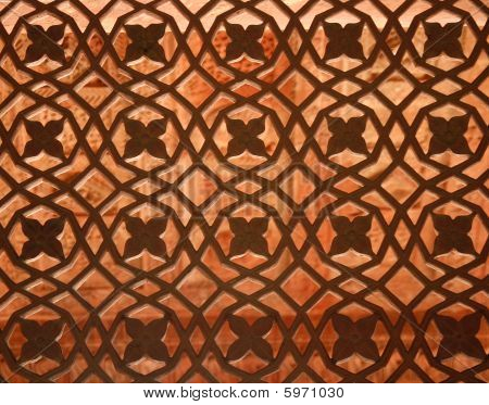 Window Ornament In The Fatehpur Sikri Temple Complex In Rajasthan, India