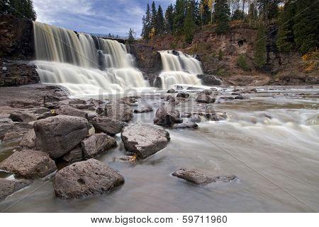 Gooseberry falls in spring time, North Shore, Lake Superior, Minnesota, USA