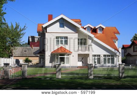 Nice White-colored House