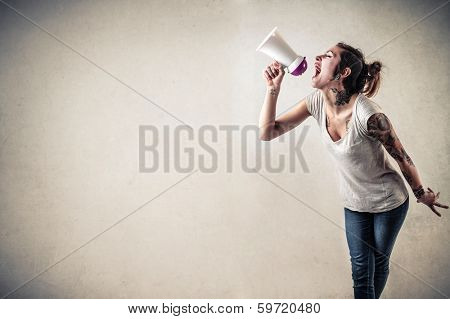 advertising girl