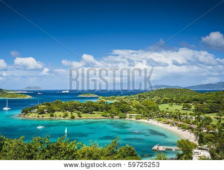 St John, United States Virgin Islands at Caneel Bay poster
