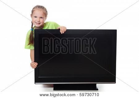 The little girl hides for lsd isolated