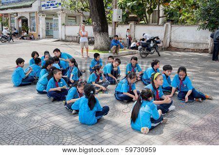 Vietnamese school children