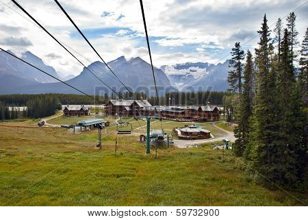 Lake Louise Cable Car In Banff National Park