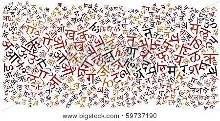 Hindi Alphabet Background