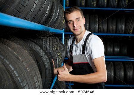 Young Mechanic Thumbs Up