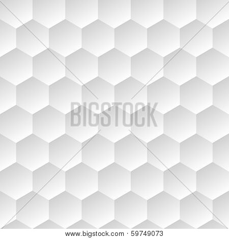 white geometric background with hexagons. Use as a backdrop the fill pattern poster