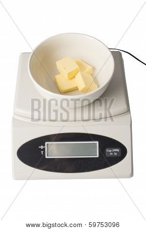 Butter Cubes On A Digital Scale
