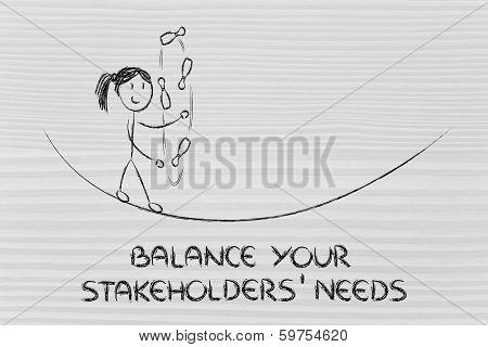 Balancing And Managing Stakeholders' Needs: Funny Girl Juggling