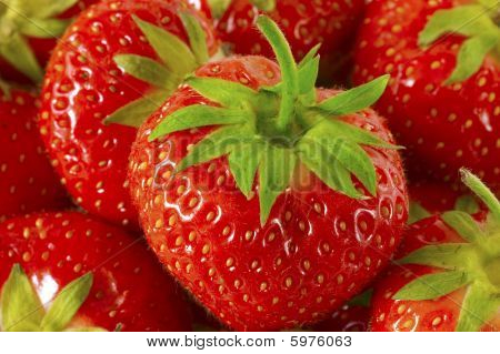 Bunch Of Red Strawberries