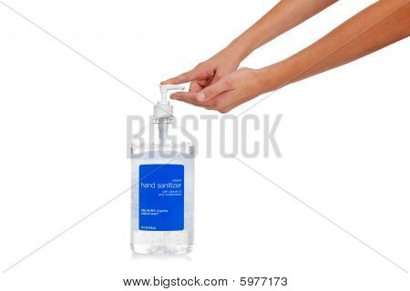 Child's Hand Dispensing Hand Sanitizer - Flu Prevention
