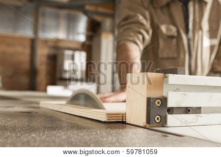 Young Worker In Joinery