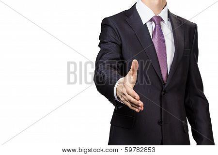 Businessman Greeting