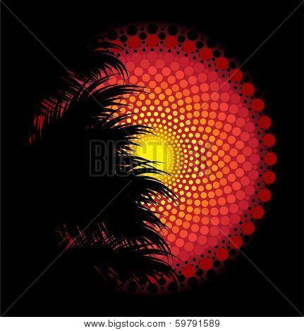 African tribal art vector background