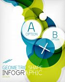 Glossy circle geometric shape info graphic background. poster