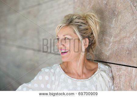 Vivacious Beautiful Blond Woman
