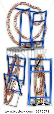 Flummox Roller Coaster Model