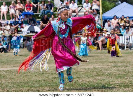 Young Powwow  Fancy Shawl Dancer
