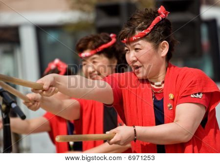 Japanese Daihanya Festival Drummers