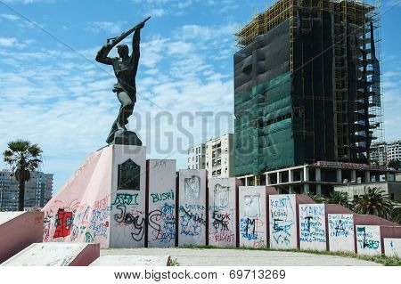 Monument Unknown soldier in Durres Albania