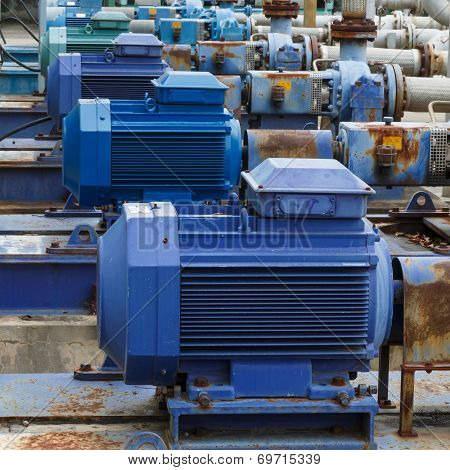 powerful electric motors for modern industrial equipment poster