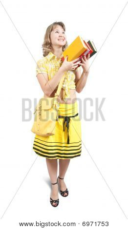 Smiling Girl With Books
