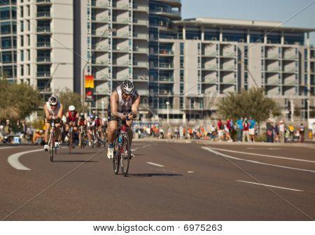 Competitor Racing in the Arizona Ironman Triathlon