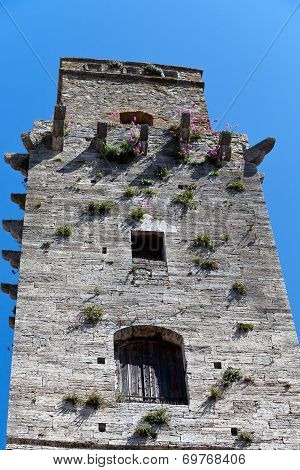 view on some of famous tower in San Gimignano in Toscany in italy