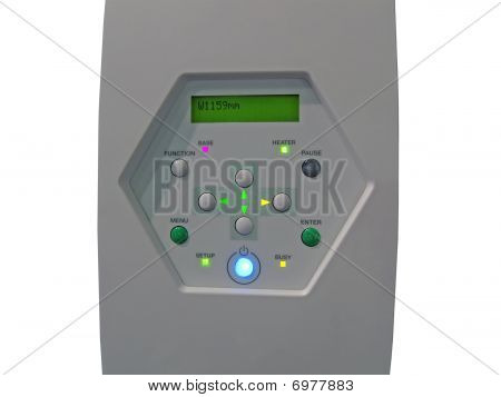 Printing Press Control Panel Isolated, Plastic Texture, Closeup, Isolated