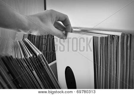 Crate Digging Vinyl Records
