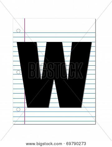 Alphabet Start Of School W