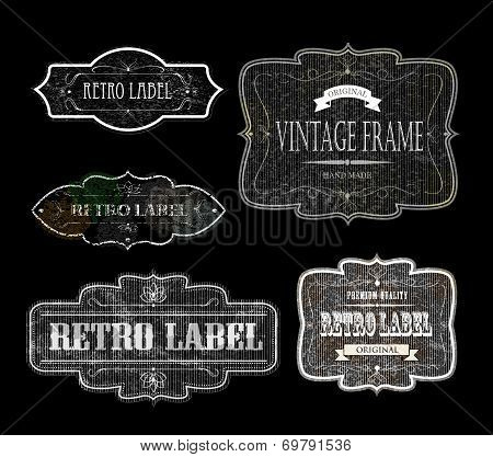 Retro Labels Black