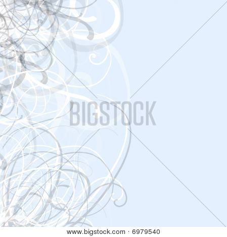 Pretty Blue Swirls Background