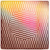 Optical Illusion and color flare - With Instagram effect poster